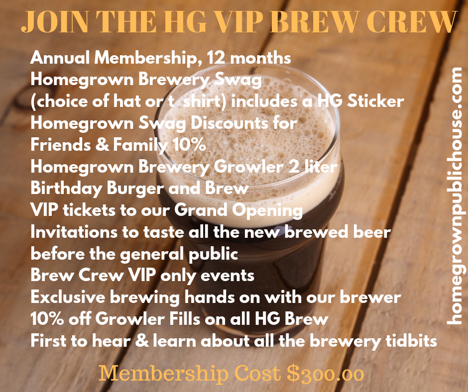 JOIN OUR HG VIP BREW CREW